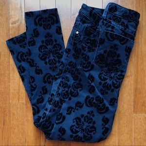 Mossimo Women's Black Velvet Floral Black Jeans